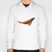 the whale Hoodies featuring Whale by Luna Portnoi