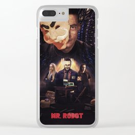 Mr. Robot - Control is An Illusion Clear iPhone Case