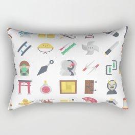CUTE NINJA PATTERN Rectangular Pillow