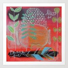 Blissful Peaceful  Art Print
