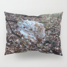 Leaf floating in the air Pillow Sham
