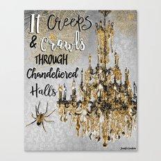 It Creeps And Crawls Canvas Print