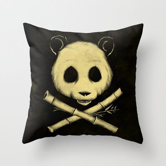 The Jolly Panda Throw Pillow