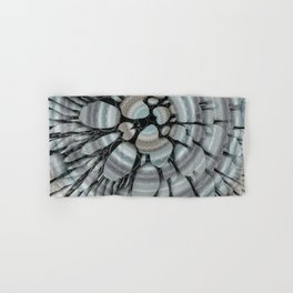 Xeric - Abstract sea colored pebbles X of Alphabet collection Hand & Bath Towel