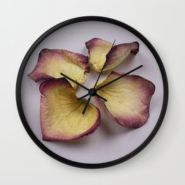 Four Rose Petals Wall Clock