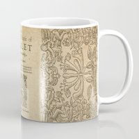 hamlet Mugs featuring Shakespeare, Hamlet 1603 by BiblioTee