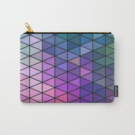 Purple Geometric Pattern Carry-All Pouch
