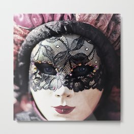 Italy Venice Mask 4 woman Metal Print