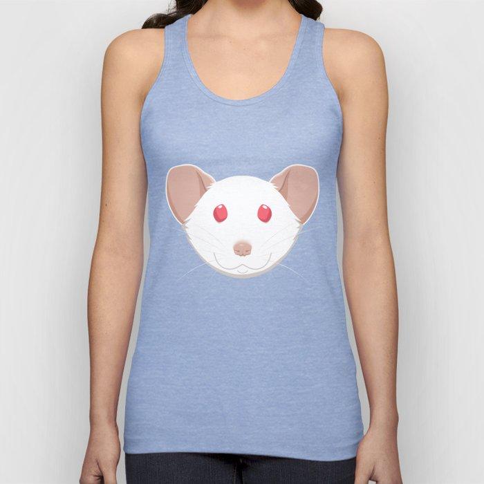 White Rat Face Unisex Tank Top