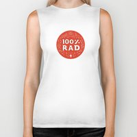 the 100 Biker Tanks featuring 100% Rad by Chase Kunz
