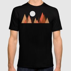 From the edge of the mountains Black Mens Fitted Tee MEDIUM