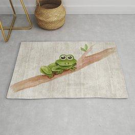 Little Frog, Forest Animals, Woodland Critters, Tree Frog Illustration Rug