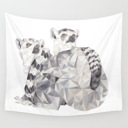 Ring tailed lemurs Wall Tapestry