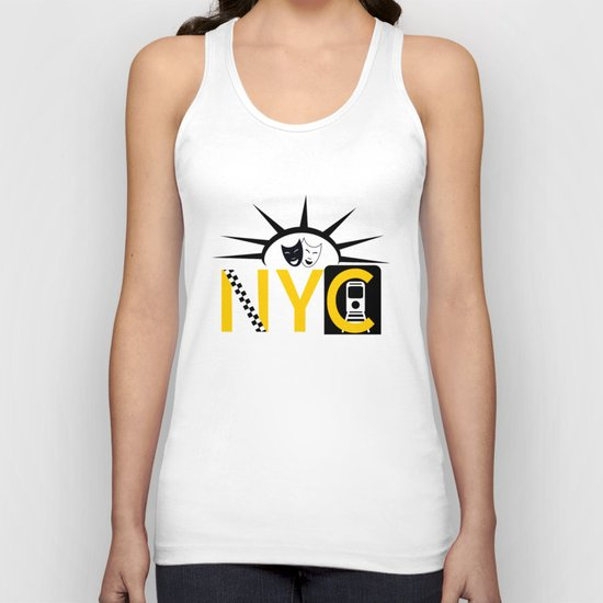 NYC Icon Collage Unisex Tank Top