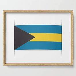 Flag of Bahamas. The slit in the paper with shadows. Serving Tray