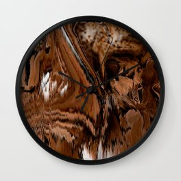 Pioneers Crossed The Harsh stoney and sandy of the desert of California Wall Clock