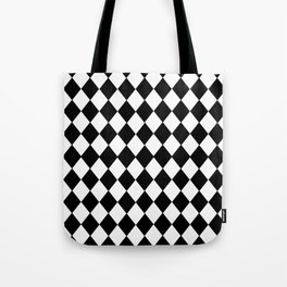 HARLEQUIN BLACK AND WHITE PATTERN #2 Tote Bag