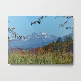 The Cascades from an Autumn Field Metal Print