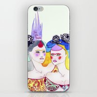leah flores iPhone & iPod Skins featuring Flores by Tania Orozco