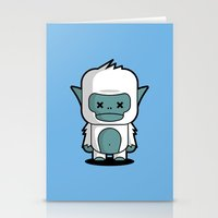 yeti Stationery Cards featuring Yeti by m. arief (mochawalk)
