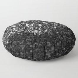 Black & Silver Glitter Gradient Floor Pillow