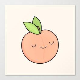 Happy Peach Canvas Print