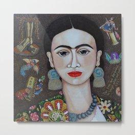 Frida thoughts Metal Print