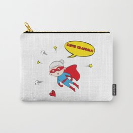 Flying Super Grandma Carry-All Pouch