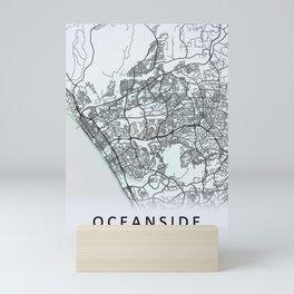 Oceanside, CA, USA, White, City, Map Mini Art Print
