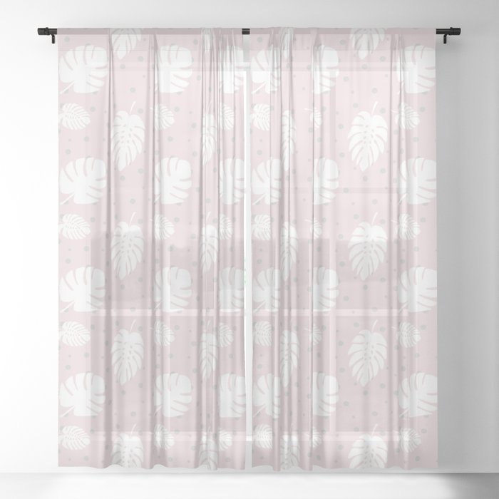 Monstera Pois Sheer Curtain