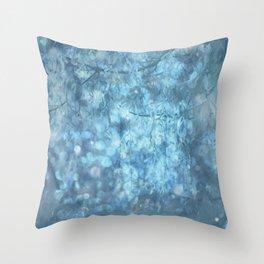 MYSTICAL BLUE WINTER Throw Pillow
