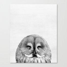 Owl, Woodland, Bird, Animal, ZOO, Nursery, Minimal, Modern, Wall art Canvas Print
