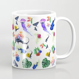 tropical shark pattern Coffee Mug