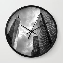 Heaven's Reach in Black and White Wall Clock