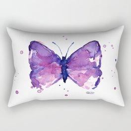 Butterfly Purple Watercolor Animal Rectangular Pillow