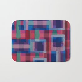 Abstraction rouge et bleue Bath Mat