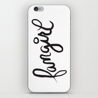 fangirl iPhone & iPod Skins featuring fangirl by Fortissimo6