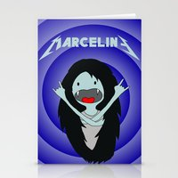 marceline Stationery Cards featuring Metal Marceline by totemxtotem