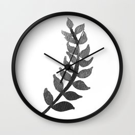 Minimalist botanical fern Wall Clock