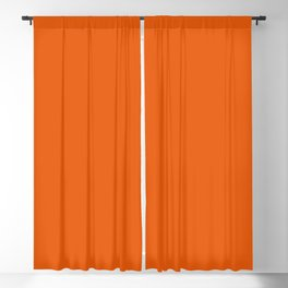 Orange Soda Solid Summer Party Color Blackout Curtain