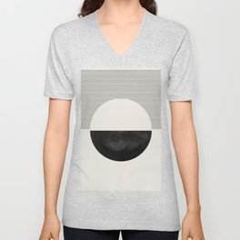 Abstract watercolor creative black geomectric shape minimalist artistic hand drawn. Lovely abstract art. Elegent home decor. Unisex V-Neck