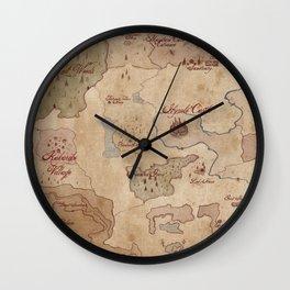Map of Hyrule- Legend of Zelda Wall Clock