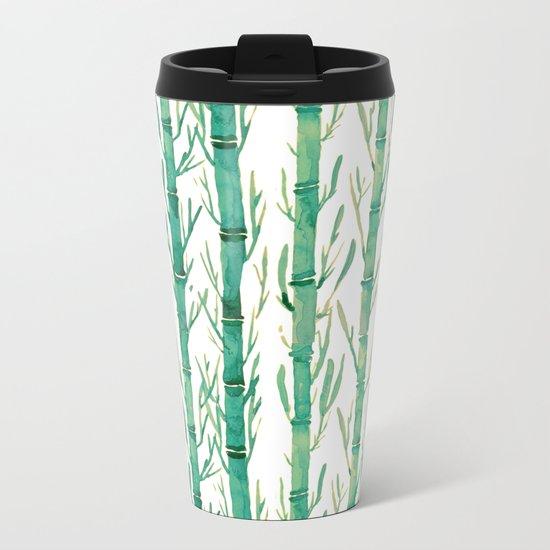 bamboo pattern Metal Travel Mug