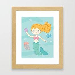 Mermaid Swim Framed Art Print