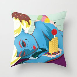Lying On The Grass Throw Pillow