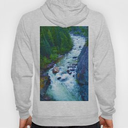 Astoria River in Jasper National Park, Canada Hoody