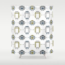 African Cloth Shower Curtain