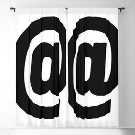 At Sign (Black & White) Blackout Curtain