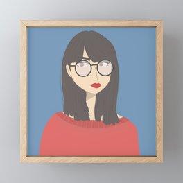BETH   Female Digital Illustration Framed Mini Art Print