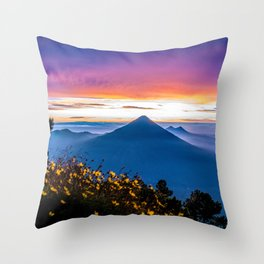 Sunrise in Guatemala Throw Pillow